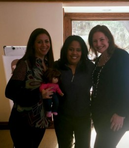 Dr. Carrie and Dr. Lisa with reporter Paula Tutman Channel 4